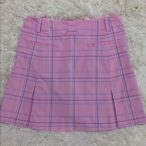 Nike Golf Fit Dry Skorts. Pink pleated plaid.